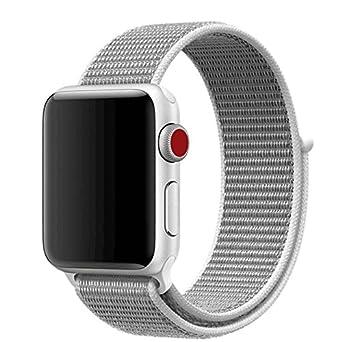 Hongtianyuan Bracelet Velcro de rechange pour montres connectées Apple Watch 1/2/3 Coquillage
