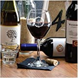 Personalized Red Wine Glass with Custom Monogram for Wedding Decor Glassware