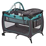 Safety 1st Prelude Play Yard, Built in Full Size Bassinet Easy to Move and Carry, Marina