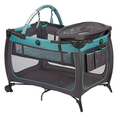 Safety 1st Prelude Play Yard, Built in Full Size Bassinet Easy to Move and Carry, Marina by Safety 1st