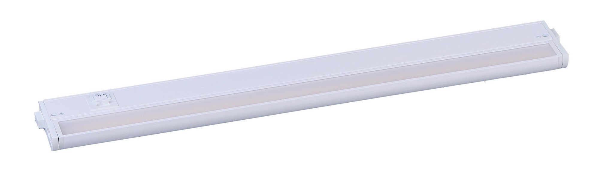 Maxim 89995WT CounterMax MX-L-120-3K 24'' 2700-4000K LED UC, White Finish, Glass, PCB LED Bulb , 60W Max., Dry Safety Rating, Standard Dimmable, Shade Material, Rated Lumens