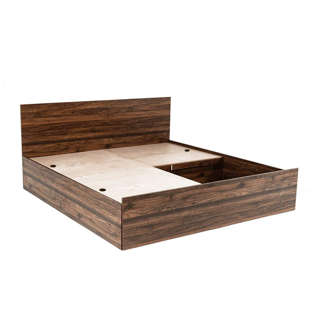 Wakefit Queen Size Taurus Engineered Wood Platform Bed with Storage    Matte Finish_Brown  Beds, Frames   Bases