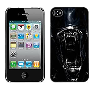 Impact Case Cover with Art Pattern Designs FOR iPhone 4 / 4S Alien Face Close Up Betty shop