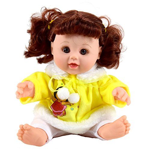 TUSALMO 12 inch Vinyl Newborn Baby Dolls for Children's and Granddaughters Holiday Birthday, Lifelike Reborn Washable Silicone Doll.(Yellow)