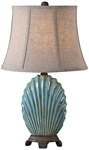 Seashell Blue Buffet Lamp ()