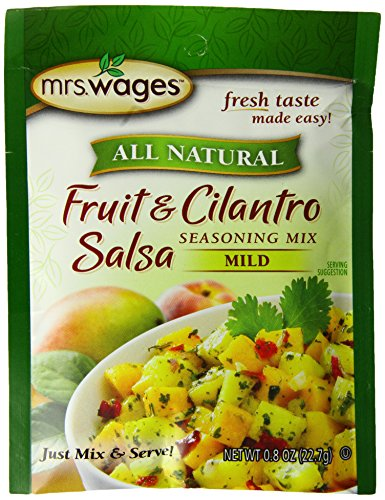 Mrs. Wages Fruit and Cilantro Salsa Mix, .8-Ounce Pouches (Pack of 12) - Mango Cilantro Salsa