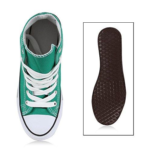 Herren Damen Flandell Unisex Sneaker Übergrößen Weiss Grün high Stiefelparadies EfOwq
