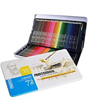 skrskr Professional 72 Colored Pencils Set Pre-Sharpened Water-Soluble Water Color Pencils with Brush Protective Storage Box for Students Children Adults Artists Art Drawing Sketching Writing Artwork