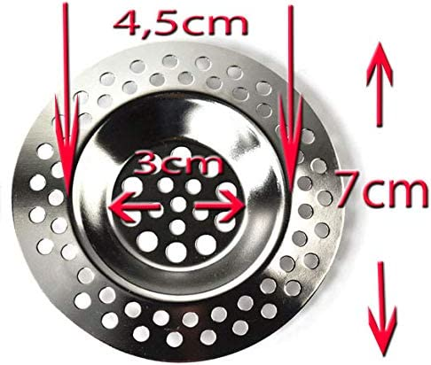 all-around24 4 St/ück Ausgussfilter Abflusssieb Sieb Sp/ülbeckensieb Abfluss Filter