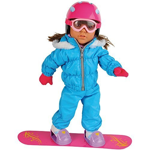 Today's Girl 10 Pc. Extreme Snowboarding Clothing Set with Snowboard & Accessories for 18