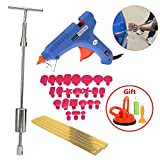 VTOLO Paintless Dent Repair Tools Kit - Grip PRO Slide Hammer with 24pcs Dent Removal Pulling Tabs Suction Cup Dent Puller Car Dent Repair Tools for Vehicle SUV Car Hail Damage Remover