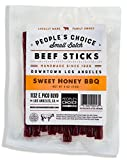 People's Choice Beef Jerky - Tasting Kitchen - Sweet Honey BBQ - Gourmet Handmade Craft Meat Snack - 4 OZ Bag