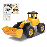 Take Apart Truck Bulldozer Toy Pretend Play Set – Build Your Own Kit Construction Toy Vehicle (Bulldozer, Cement Roller & Cowcatcher) – 56 Take-A-Part Pieces With Toy Tools For Kids Ages 3 And Up
