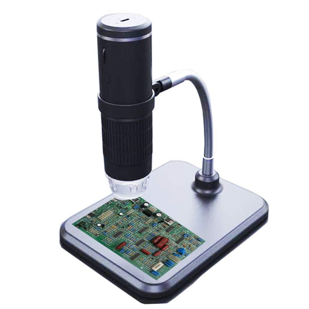 KKmoon 1000X Microscopio Digitale Senza Fili Multifunzionale 2.0MP WIFI Microscopi Elettronici portatile ad Alta Definizione con 8 Luci a LED Regolabile