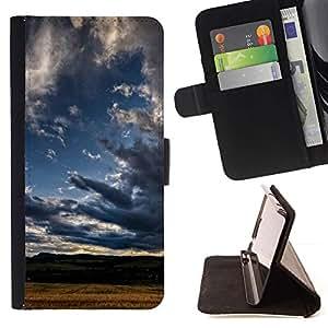 Momo Phone Case / Flip Funda de Cuero Case Cover - Naturaleza Nube Sombra - HTC One M8
