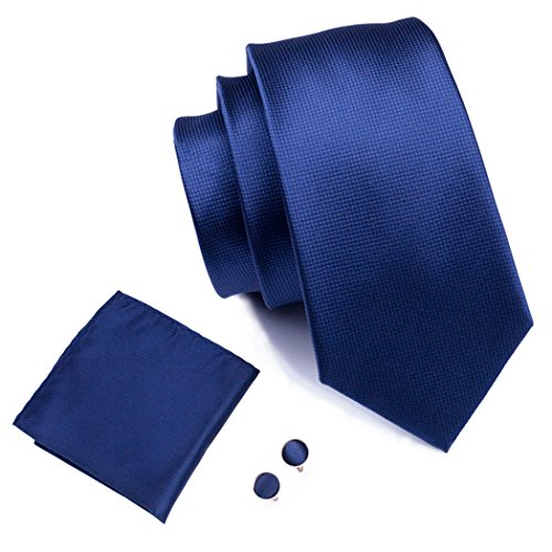 Navy Blue Square Cufflinks - 6
