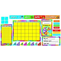 Trend Enterprises Calendario Anual Bulletin Board Set (Spanish) (T-8097)