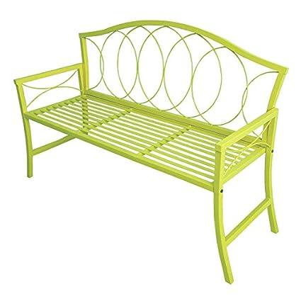 Amazoncom Gcd Austram Patio Bench 56 Inch Lime Green Garden