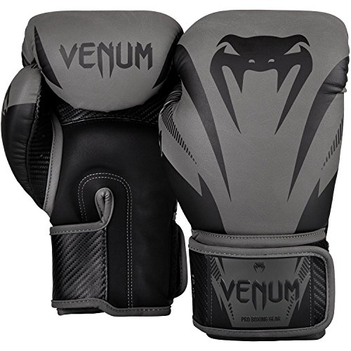 Venum Impact Boxing Gloves - Black/Black - 14oz