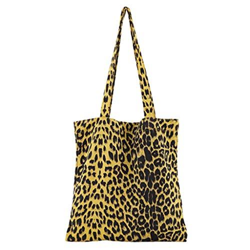 Luckycat Mujer de Bolsos de Mano Grande Bolso de Hombro Bolso Tote Bag Bolsos Shopper Bolso de cuero Lona Gran capacidad Bolsos de Mujer Bolsa de playa beige Bolsa de tela de Estampado De Leopardo