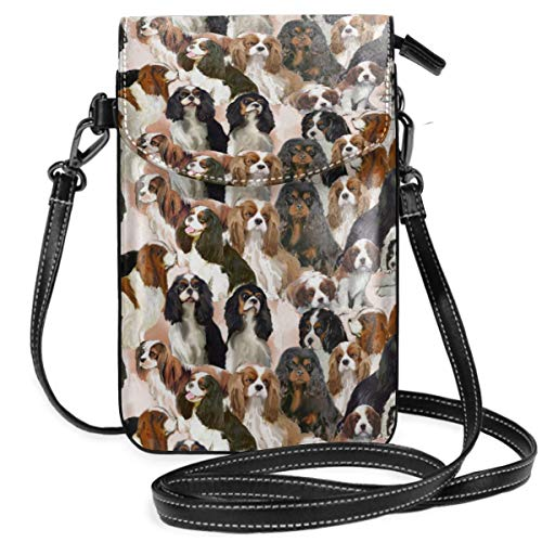 - Small Cell Phone Purse Crossbody Cellphone Shoulder Bag Cavalier Spaniel Mural Smartphone Wallet Purse with Removable Strap