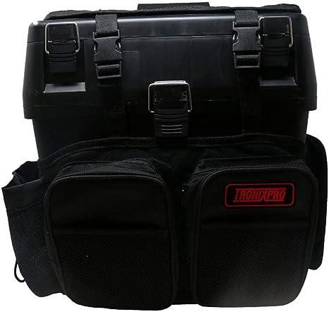 Tronixpro Seat Box Rucksack Caja de Aparejos de Pesca, Unisex ...