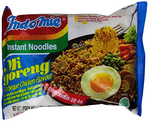 Indomie Mie Goreng Bbq Chicken 3 Ounce Pack of 30