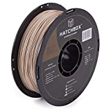 HATCHBOX 3D Printer Filament, Dimensional Accuracy +/- 0.03mm, 1.75 mm, 1 kg Spool, Wood