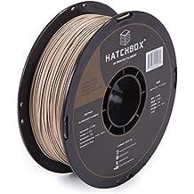 HATCHBOX 3D Printer Filament, Dimensional Accuracy +/- 0.03mm, 1.75 mm, 1 kg Spool, Wood