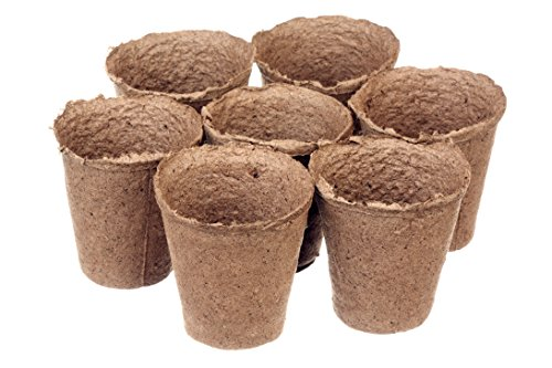 3 Inch Peat Pots Pack of 100 by Garden Monks -for Plant Starters, Seedlings,Saplings, Flowers,Vegetables-Eco Friendly Biodegradable -Prevent Transplant Shock -Garden,Backyard,Kitchen Seed Planting
