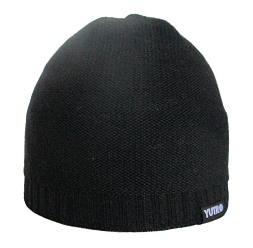 Winter Classic 100 Wool (YUTRO Fashion Classic Winter 100 % Merino Wool Beanie Hat for MenBLACK)