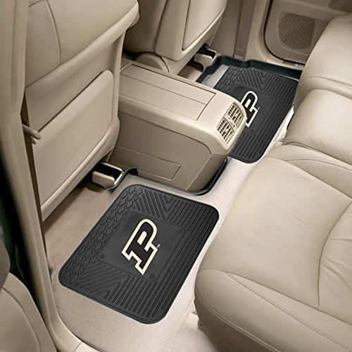 Fanmats Car Truck Automotive Accessories Purdue University Collage Sports Team Logo Backseat Utility Mats 2 Pack