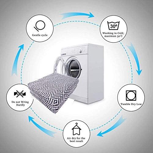 UArtlines - Alfombra de algodón reversible para interior (1,2 x 1,8 m, tejido a mano, para salón, dormitorio, lavadero, entrada): Amazon.es: Hogar