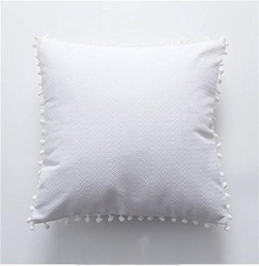 FR® Almohada Sencillo moderno lavable Terciopelo ondulado ...