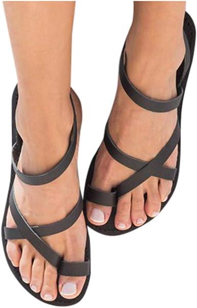 Haomigol Women Strappy Flat Sandals