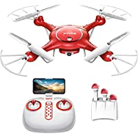 Drone with Camera Live Video – Syma X5UW Wifi FPV RC Quadcopter with 720P HD Camera for Kids, Beginners and Adults, Altitude Hold One Key Take Off/Landing, Bouns 3 Batteries with Charging Box