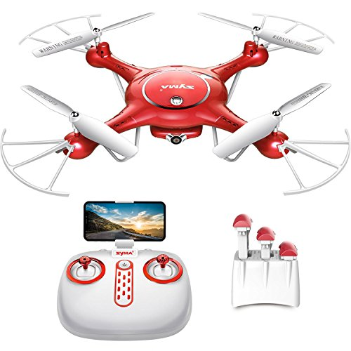 Drone with Camera Live Video - Syma X5UW WiFi FPV RC Quadcopter with 720P HD Camera for Kids, Beginners and Adults, Altitude Hold One Key Take Off/Landing, Bouns 3 Batteries with Charging Box