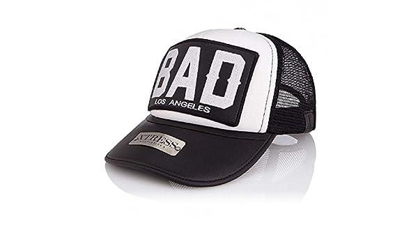 Gorra blanca y negra con el logo BAD. Unisex: Amazon.es: Ropa y ...