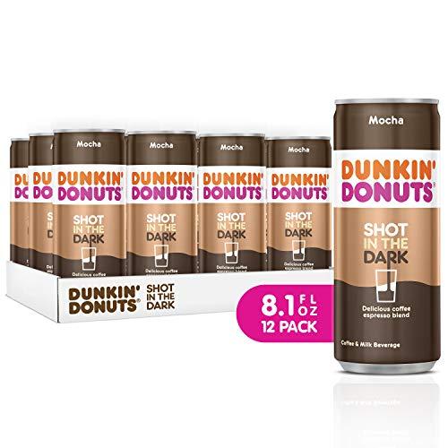 Dunkin Donuts Shot In The Dark, coffee espresso blend drink (Mocha, 8.1 fl oz, 12 Pack)