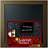 Quartet Chalkboard, 14 x 14 Inches, Wood Finish Frame (90006)