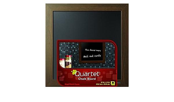 Cuarteto pizarra, marco de acabado de madera, color madera ...