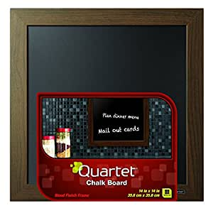 "Quartet Chalkboard, 14"" x 14"", Wood Finish Frame (90006)"