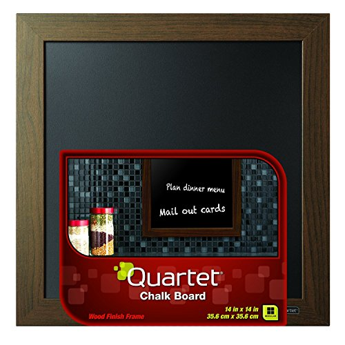 Quartet Chalkboard, 14'' x 14'', Wood Finish Frame (90006) by Quartet