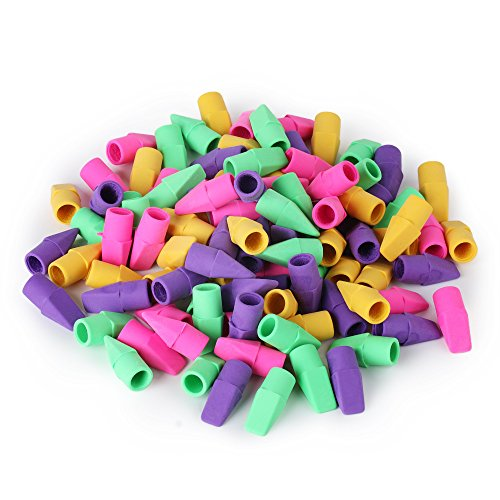 Mr. Pen - Pencil Erasers, Pencil Top Erasers, 130 Pieces Cap Erasers, Eraser Tops, Pencil Eraser Toppers, School Erasers for Kids, School Supplies for Teachers, Eraser Pencil, Earasers, Eraser Caps ()
