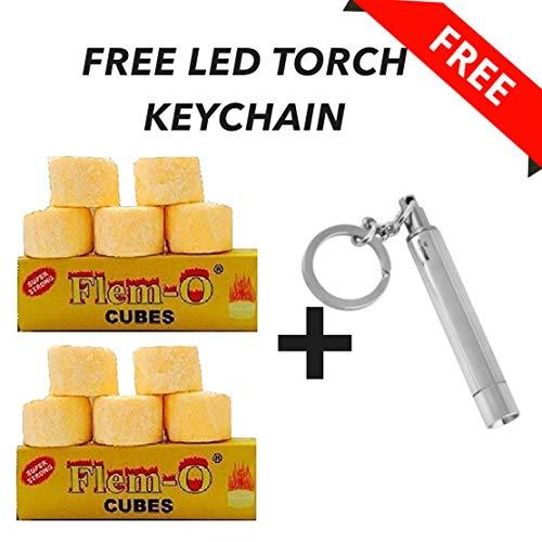 Maverick Flem-O Cubes(Yellow) Dry Fuel Cubes 10 Nos + LED Torch Light Key Chain Price & Reviews