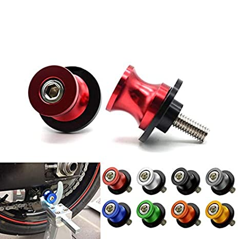 2pac M10 Motorcycle Universal Swing armSliders Spools CNC Swing Arm Stand Screw For KTM Duke Yamaha Kawasaki and More blue