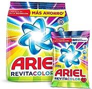 Ariel Revitacolor Detergente en Polvo 3.7Kg + 750gr