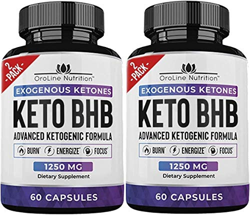 Keto Pills - [2 Pack | 120 Capsules] Advanced Keto Burn Diet Pills - Best Exogenous Ketones BHB Supplement | Keto BHB Diet Pills for Women and Men - Max Strength Boost