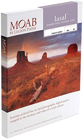 Moab Lasal Exhibition Luster 300 Papier 5 x 7 Inches
