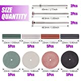 Swpeet 46Pcs Polishing Wheels Kit, 40Pcs 4 Colors